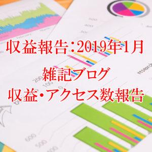 【収益報告:2019年1月】雑記ブログ運営10ヶ月目の収益・アクセス数報告