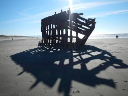 What's left of the Peter Iredale