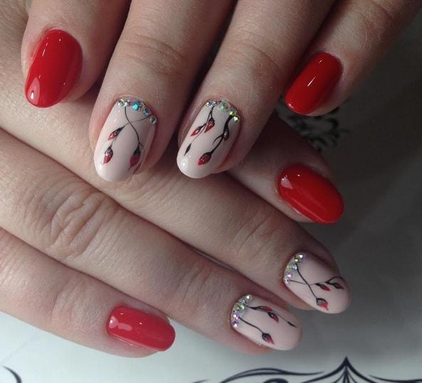 Маникюр с веточкой, минимализм на ногтях и свитблюм (30 ...