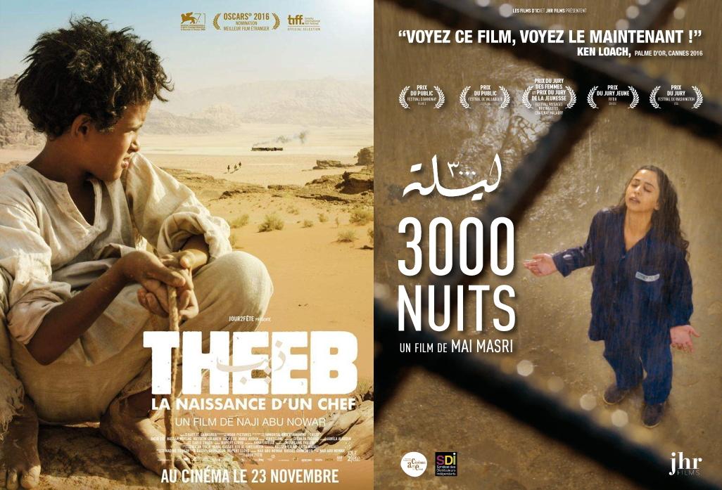 Theeb de Naji Abu Nowar et 3000 nuits de Mai Masri