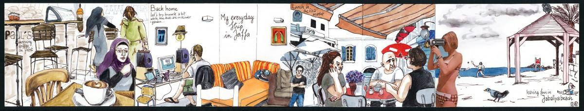 My everyday strip in Jaffa © Aurore Vigne
