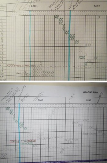Comparing April and May Grazing Charts