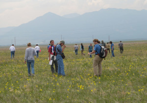 Here's a group of scientists doing a rangeland health assessment. Looks like fun!