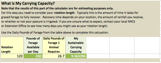 What is my carrying capacity?