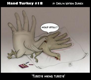 Hand Turkey #18-drawing