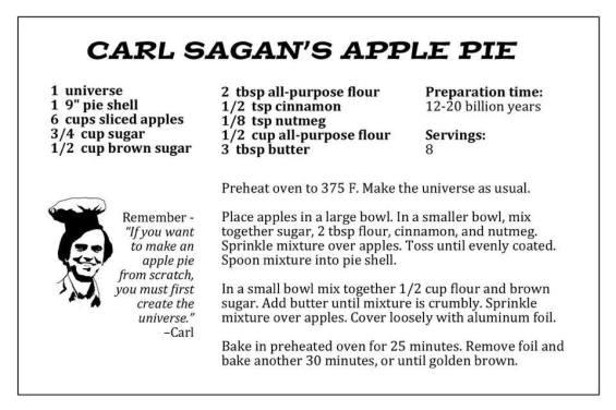 Carl Sagan's Apple Pie Recipe