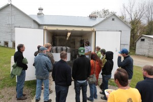 Photo taken by Jared Katz at the Oct 2013 Andrews Farm Celebration with tours of the new poultry processing unit