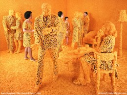 A whole room made of cheetos!  Is this where we're headed?!  (An art piece by Sandy Skoglund)