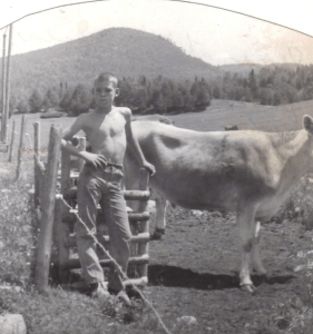 Spud's grandfather raised Jersey's. At 13, he was working on his grandfather's farm.