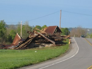 Old barn demolished along Rt 12 B.