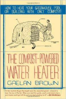 Here is a revolutionary approach for heating rooms and generating hot water. Author Gaelan Brown has worked with engineers and compost scientists to refine methods of composting that can heat greenhouses, barns, buildings, and hot water, all without combustion. Click to look inside at Amazon.com.