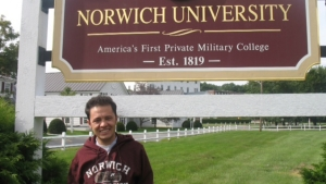 Ali Shahidy at Norwich University. Photo by Kara Lozier