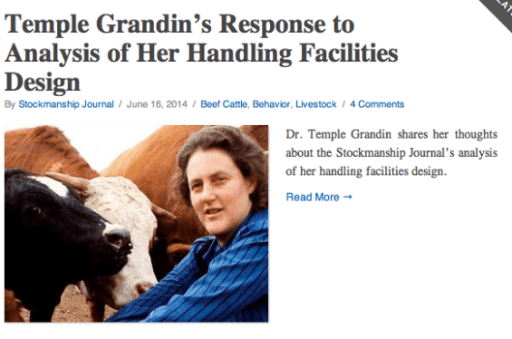 Grandins Response