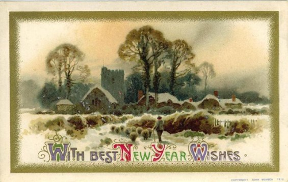 vintage-new-year-cards-farm-scene-with-sheep-and-snow