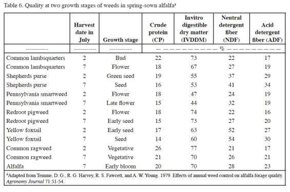 "From ""The Nutritive Value of Common Pasture Weeds and Their Relation to Livestock Nutrient Requirements"""