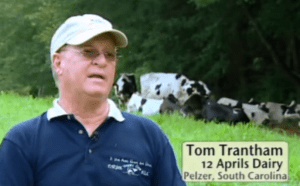 """""""I am a farmer and I grow crops, not grass. I grow a crop to feed my cows. Only thing I don't do is I don't have a mowing machine, I don't have a chopper, a blower or a silo. They do it all for me and they say 'Tom we're full. We're good. We're going to get you 100 lb. milk tonight.'"""""""