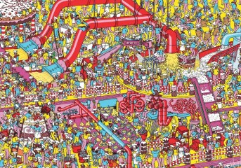 Don't look for us in this picture, because only Waldo is in it. We've made it easier to find us by telling you where we'll be. (But if you want to search for Waldo, click for a larger version of this picture.) :-)