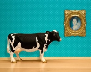 This cultured cow prefers are museums.