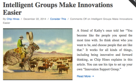 Intelligent Groups Make Innovation Easier