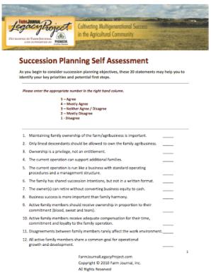 Sucession Planning Scorecard