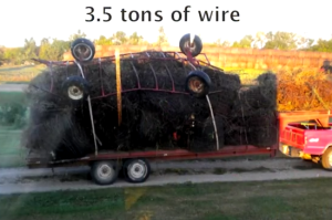 Three and a half tons of wire - the last load as the Sands trimmed their equipment and paid off debt.