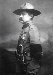 Major Frederick Russel Burnham was inspiration for the Boy Scouts. The organization hoped to teach boys the outdoor skills and strength of character that had made Burnham famous.