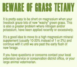 Beware of Grass Tetany