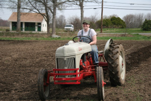 borrowed tractor