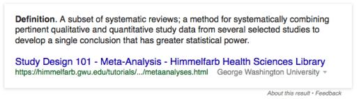 metastudy definition