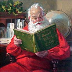 santa-reading