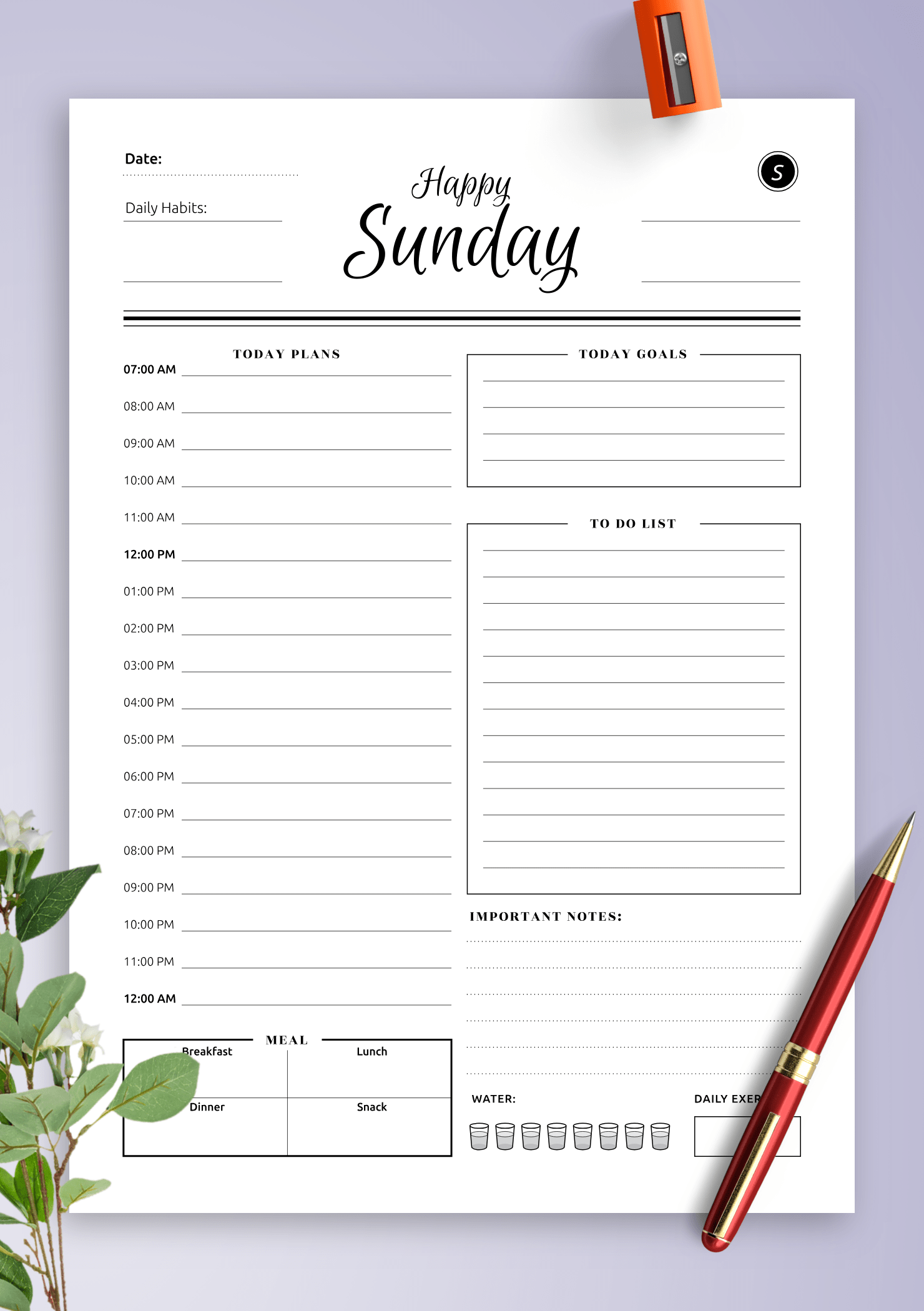 Download Printable Daily Planner Templates 5 In 1 Bundle