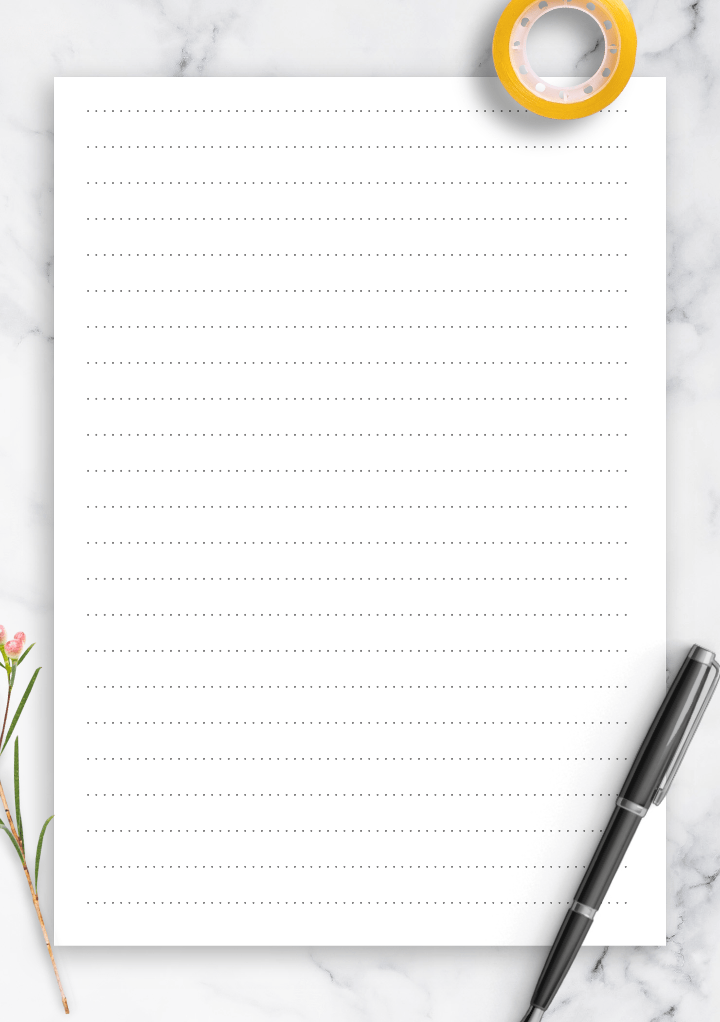 The Best Printable Dotted Paper