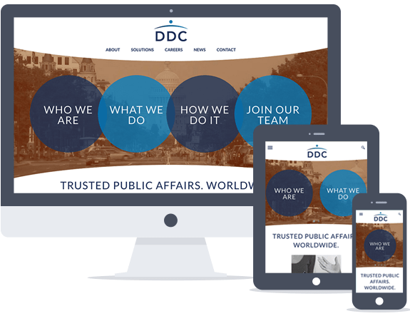 The redesigned DDC website makes it clear who DDC is and what they do.