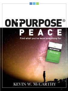 On-Purpose Peace Fellowship Edition
