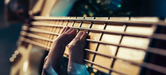 Guitar strings create calloused fingers