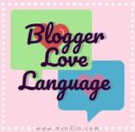 Mini graphic for blogger love language meme.