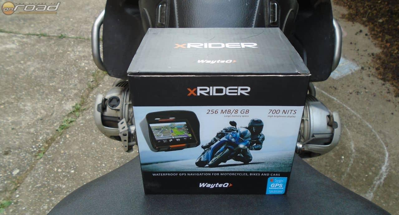 Már a dobozról is egyértelmű - ha a nevéből nem lenne az -, hogy az xRIDER elsődlegesen motoros felhasználásra készült