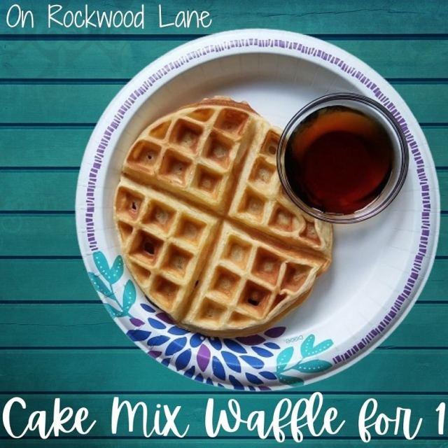 dinner Cake Mix Waffle for 1 Recipe On Rockwood Lane