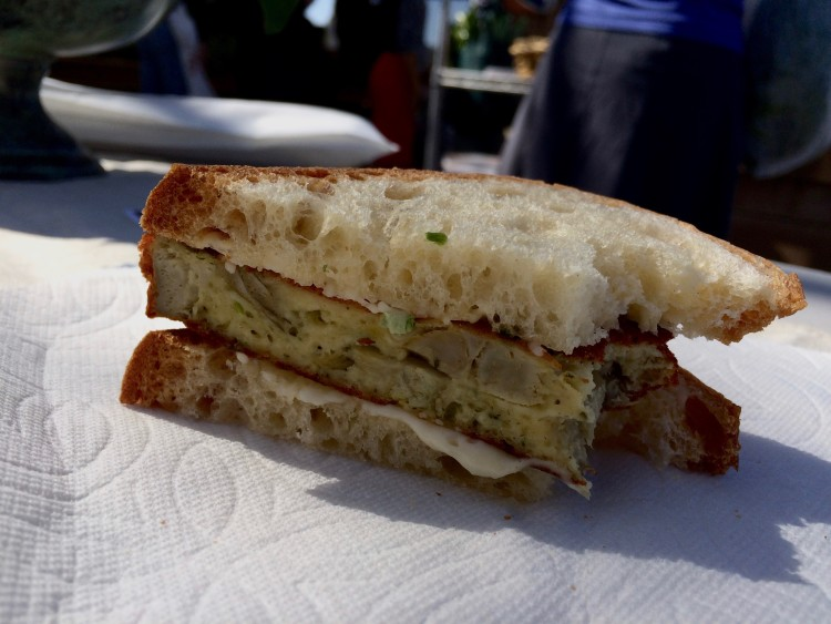 The Famous Chino Artichoke Fritatta sandwich, just for the author