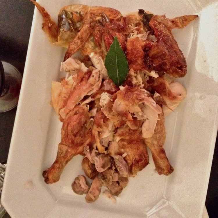 Et voila! A dinner of perfectly roasted,perfectly presented chicken