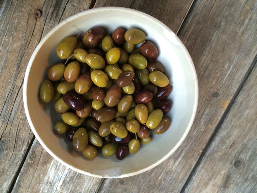 Home brined olives