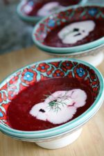 CREAM OF BEET SOUP WITH CREAM CLOUDS