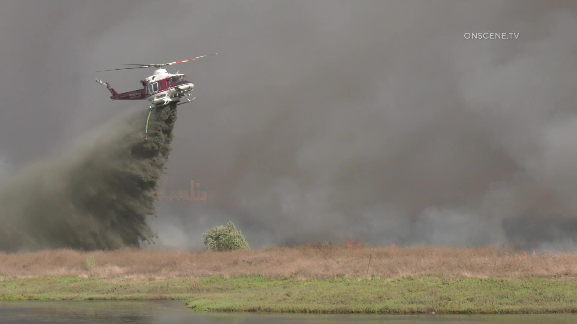 Huntington Beach: Brush Fire At Bolsa Chica Wetlands ...