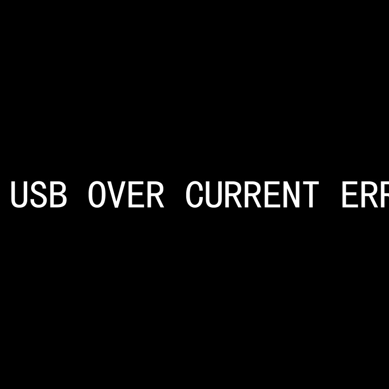 usb over current error とは
