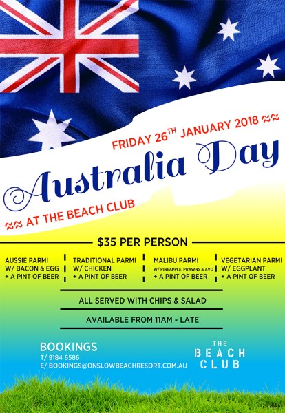 australia day onslow karratha exmouth hedland pilbara north west