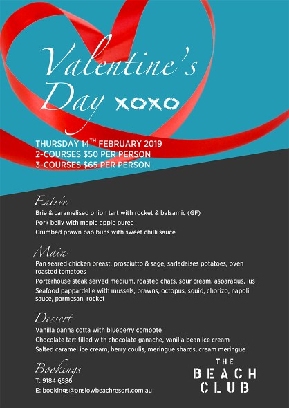 valentines day onslow karratha exmouth hedland pilbara north west