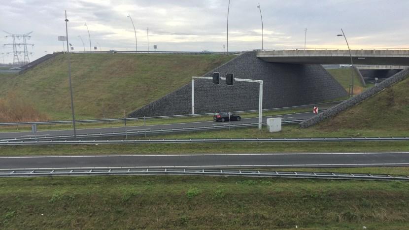 Kruispunt A50/A2 bij Ekkersrijt