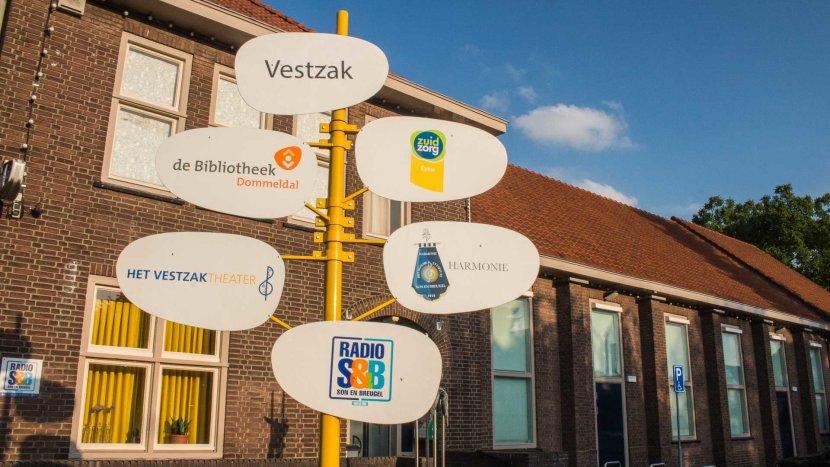Het bord met alle gebruikers van het Vestzak