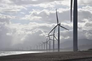 Windturbines die groene stroom opwekken