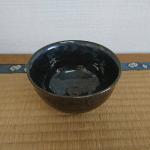 小鹿田焼 B品 抹茶茶碗 黒 坂本浩二窯